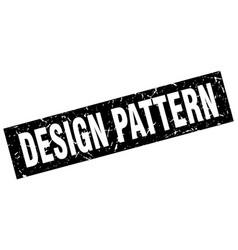 Square grunge black design pattern stamp vector