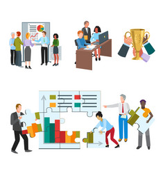 Team work people management business concept vector