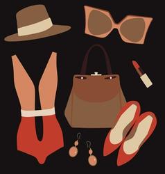 vintage dresss style set vector image