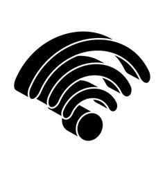 Wifi signal isometric icon vector