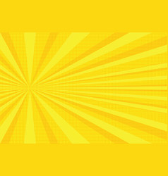 yellow rays pop art background vector image vector image