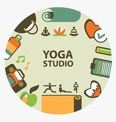 Yoga studio emblem vector image vector image