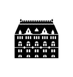 Building with arched windows icon vector