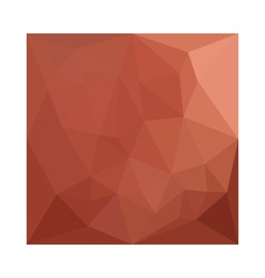 Burnt sienna orange abstract low polygon vector
