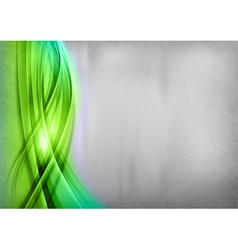 Background green wave grey vertical vector
