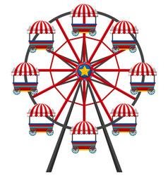 ferris wheel on white background vector image