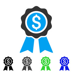 Business award flat icon vector
