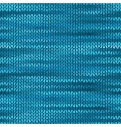 Seamless knitted melange pattern blue turquoise vector