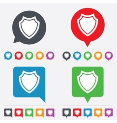 Shield sign icon protection symbol vector