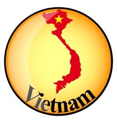 button Vietnam vector image