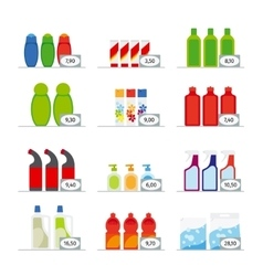Household chemicals vector