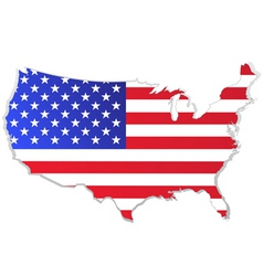 Usa map with flag vector