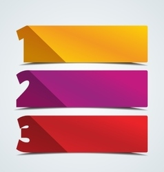 Numbered banners vector