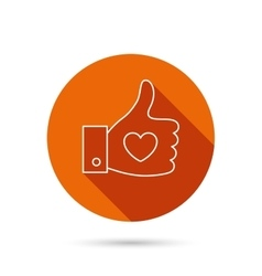 Thumb up like icon super cool vote sign vector