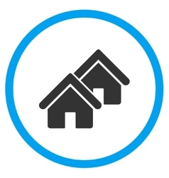 Realty circled icon vector