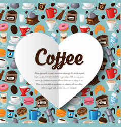 Colorful coffee background vector