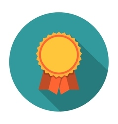 Award ribbons flat icon vector