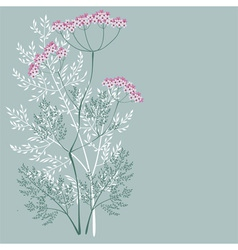 Flowering meadow plant vector