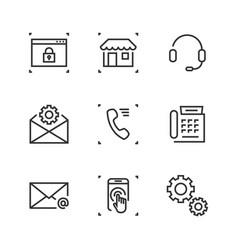 9 line icon vector