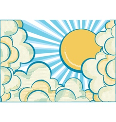 Clouds with sun vector