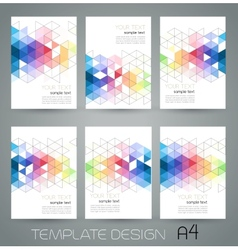 abstract geometric banner with triangle vector image vector image