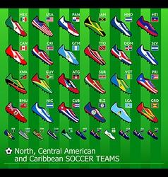 American soccer teams vector