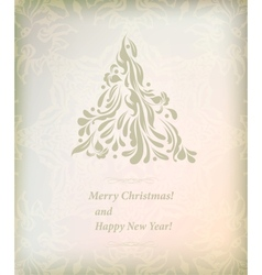 Beautiful card for merry Christmas vector image vector image