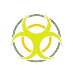Biohazard sign round flat icon vector