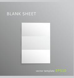 Blank folded paper sheet vector
