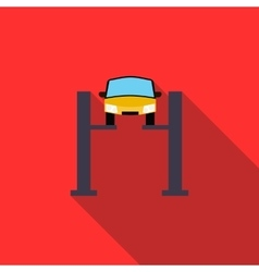 Car lifting icon in flat style vector