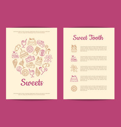 card or flyer template for pastry or vector image vector image