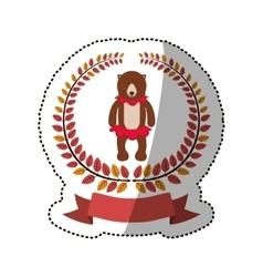 Circus bear cartoon vector