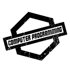 computer programming rubber stamp vector image