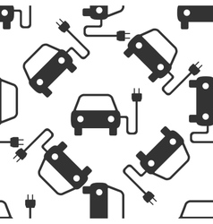 Electric powered car symbol icon pattern vector