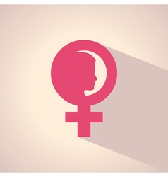Female face and symbol vector