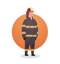 Fireman icon fire fighter professional worker vector