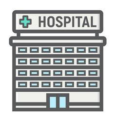 hospital building filled outline icon medicine vector image vector image