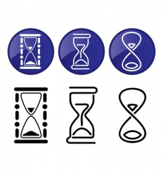 hourglass silhouettes vector image vector image