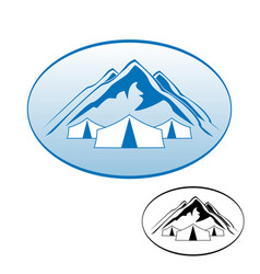 logo rest in the mountains vector image vector image