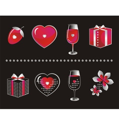 love symbols vector image vector image