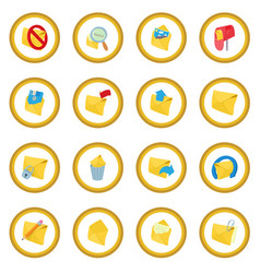 Mail icon circle vector