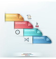 Modern infographic option banner vector image vector image