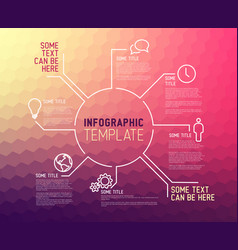 Modern infographic report template made from lines vector