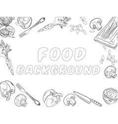 organic food background vector image