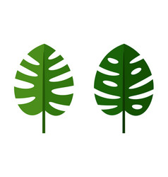 palm leaves green flat icons vector image vector image