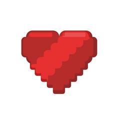 pixelated heart shape vector image