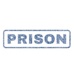 Prison textile stamp vector