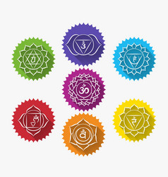 Set of chakras vector image