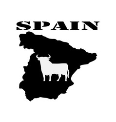 Symbol of spain and maps vector
