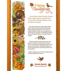 Thanksgiving template vector